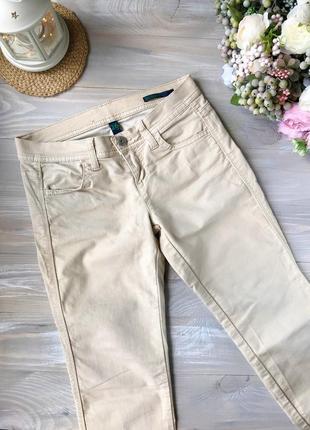 Літні нюдові джинси , штани пісочного кольору.
