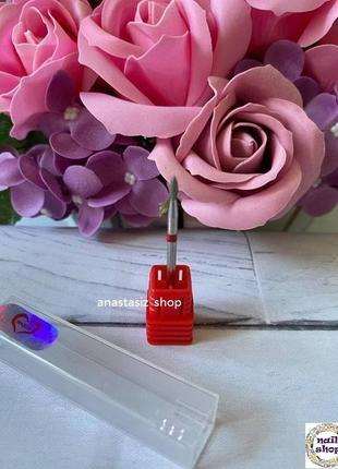 Алмазная фреза почка красная