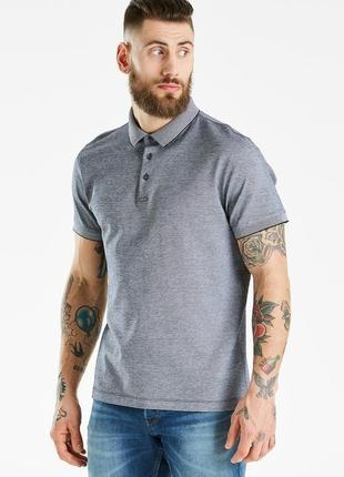 Мужская хлопковая футболка polo jasper conran серая