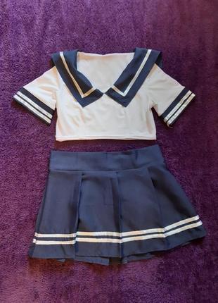 Косплей японская школьная форма юбка