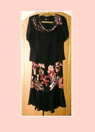 Костюм р.l/xl  юбка  блуза  спідниця блузка