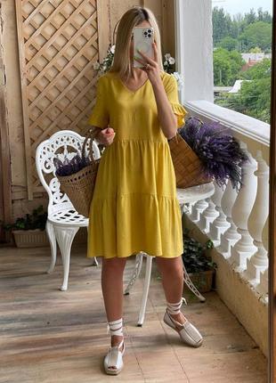 Плаття вільного крою,з боковими кишеньками