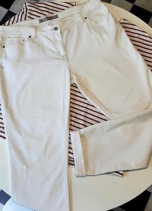 Белые джинсы скини, размер 16 euro