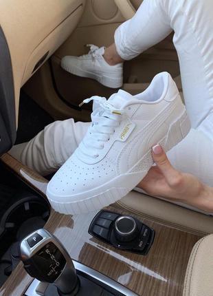 Женские кроссовки puma cali white, белые кеды, універсальні білі кеди, жіночі кросівки