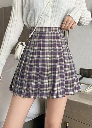Юбка тенниска/клетчатая мини юбка/в аниме стиле