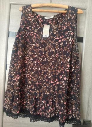 Блузка блуза в цветочний принт