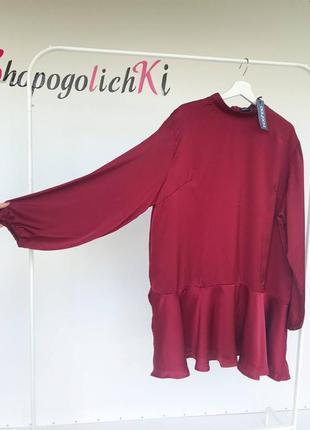 Платье шелк с воланом
