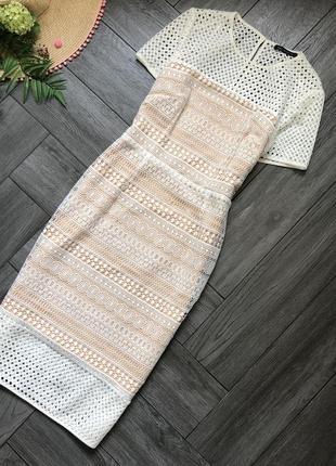 Шикарное платье миди из плотного кружева