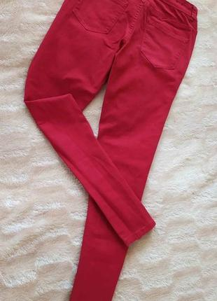 Червоні джинси скинни стрейч коттон