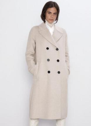 Шерстяное палто zara