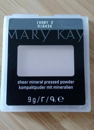 Компактная минеральная пудра ivory 2 слоновая кость 2 mary kay мэри кэй