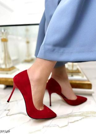 Лодочки туфли на каблуке шпильке с узким носиком
