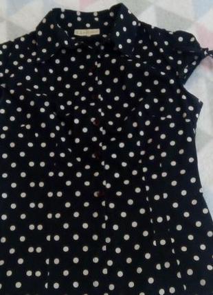 Блузка в актуальный горох, la&b&la размер s