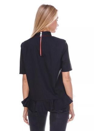 Стильная блузка в полоску zara,p.m-l