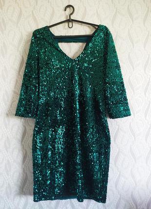 George смарагдова сукня в паєтках на вечірку