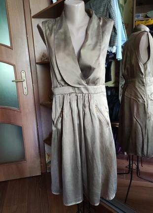 Шикарное трендовое платье из шелка relish s- m