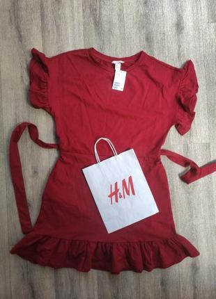 Платье трикотажное h&m пог 52, пот 41, длина 90