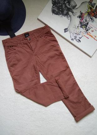 Классные укороченные джинсы цвет пыльная роза