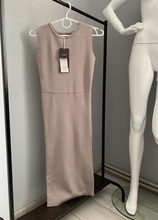 Платье бандажное миди дорого бренда италии lusio