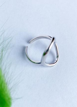 Трендове срібне мінімалістичне кругле колечко , серебро, стиль минимализм, кольцо