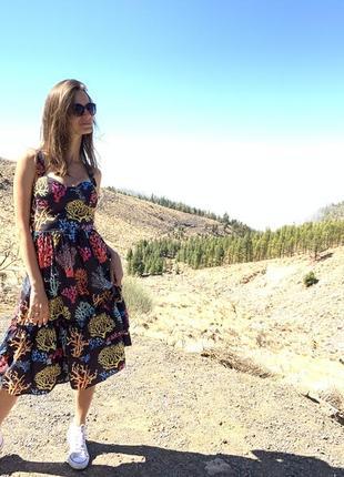 Платье с принтом d&g