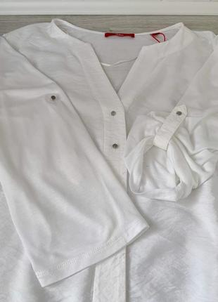 Батал белоснежная блузочка большой размер s.oliver