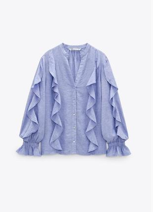 Шикарная льняная рубашка zara