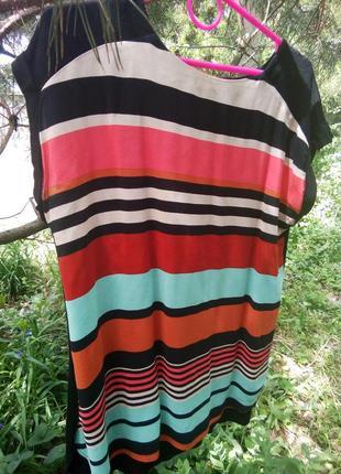 Яркая блузка, полоска, комбинированная