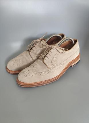 Замшевые броги туфли кожа  clarks craftmaster