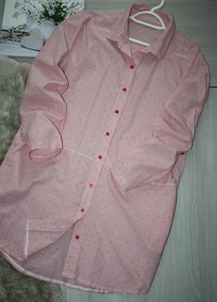 Стильное платье-рубашка в полоску с боковыми карманами!