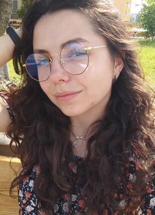 Имиджевые очки в стиле гарри поттера / круглые / іміджеві окуляри