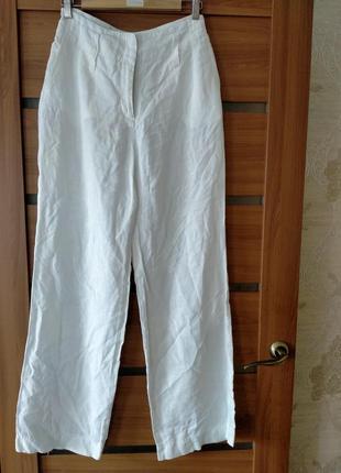 100% лен шикарные летние широкие брюки палаццо