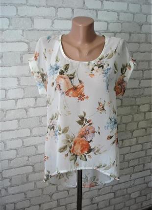 Стильная  блуза с удлиненной спинкой  linen blend 46-48 р