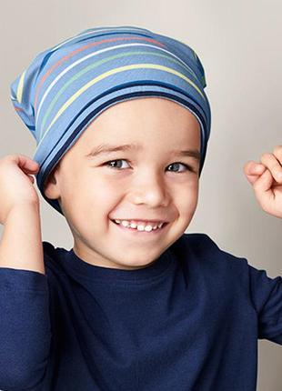 Яркая двусторонняя хлопковая шапочка1 фото