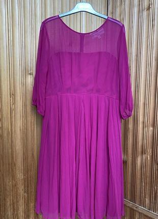 Шелковое платье фуксия💜fenn wright manson