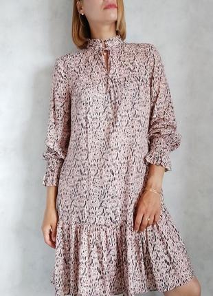 Пудровое платье сарафан