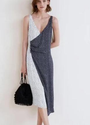 Красивое платье в горох mango m