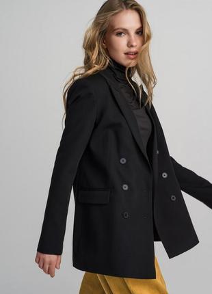 H&m стильный двубортный пиджак жакет размер м