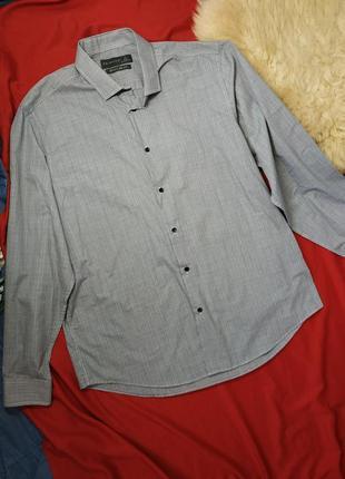 Светло-серая мужская рубашка