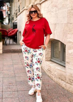 Стильные всетлые легкие штаны на лето ( есть большие размеры )