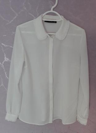 Белая блуза hallhuber
