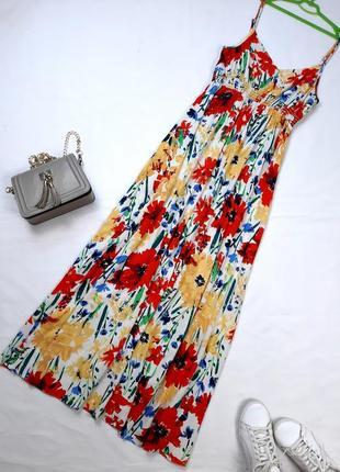 Длинный натуральный сарафан, летнее платье, 12, m-l