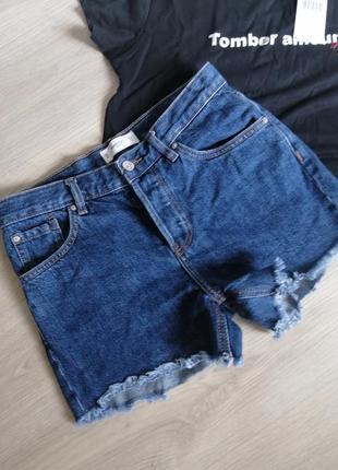 Шорты джинсовые mango р34, футболка