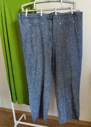 Шикарные брюки лен батальный размер