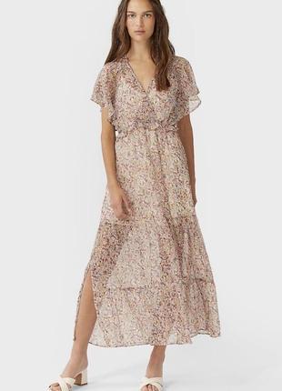 Платье миди шифоновое мильфлер
