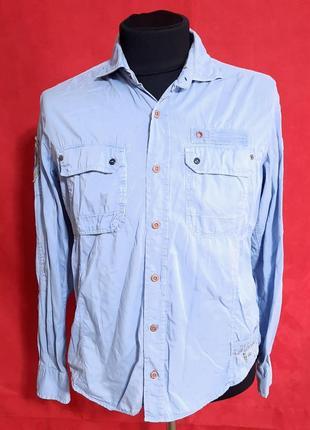 Винтажная рубашка napapijri, размер l