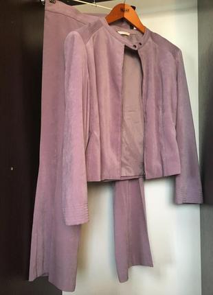 Костюм укорочённые брюки штаны пиджак жакет