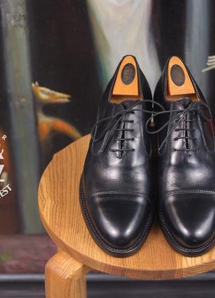 Оксфорды lendvay & schwarcz, италия 40 мужские кожаные туфли инспекторы под брюки джинсы