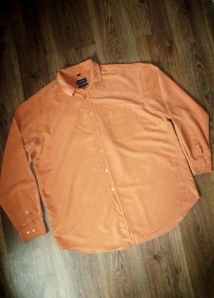 Мужская рубашка хамелеон оранжево-коричневая. пог 62,5 см. barisal xl 43/44.