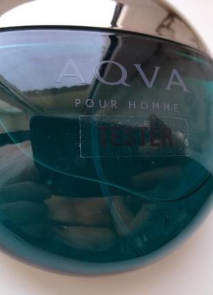 Bvlgari aqva pour homme мужская туалетная вода тестер 100 мл